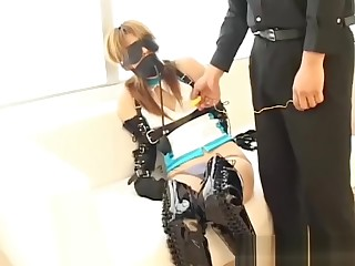 Ultra Extreme BDSM In Full Leather Gear For Cute Japanese Teen