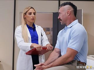 horny doctor Abella Danger ridding hard with the addition of sticky penis hopes